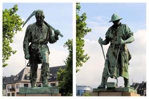 Der aus Siegen stammende Künstler Prof. Friedrich Reusch schuf die lebensgroßen Standbilder vor mehr als 100 Jahren.