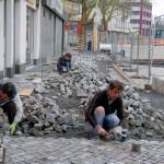 11. Kunstweg Pflasterarbeiten