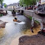 Arbeiten im Fluss