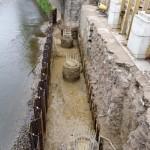 Siegbrücke: Fundamentarbeiten