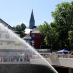 Die Wasserfontäne der Freiwilligen Feuerwehr Siegen
