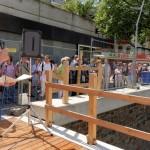 Bürgermeister Steffen Mues begrüßte die Besucher beim Fischerfest