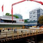 Betonieren der Siegbrücke