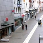 Blick von der Stadtmauer hinunter auf die Kölner Straße