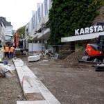 Der Leitstreifen im mittleren verlauf der Kölner Straße wurde zuerst angelegt.