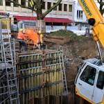 Foto: Der frisch eingefüllte Beton muss nun einige Zeit abbinden.