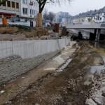 Platz für Uferweg zwischen Oberstadtbrücke und Siegbrücke