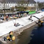 Foto: Dank des guten Bauwetters kommen die Arbeiten an Siegens Großbaustelle hervorragend voran.