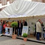 Weißes Info-Zelt der Stadt Siegen