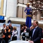 Bürgermeister Steffen Mues eröffnet Aktionstag
