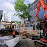 Auf voller Länge wurde die erste Seite der Bahnhofstraße aufgegraben.