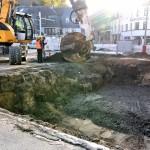 Etwa drei Meter tief lag der Tank im Boden.