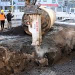 Schwere Last: Insgesamt 21 Tonnen wog der Tank mit der Sand-Füllung...
