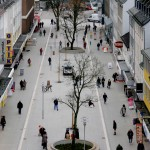 Aus der Vogelperspektive lässt sich die Veränderung der Bahnhofstraße besonders deutlich erkennen.